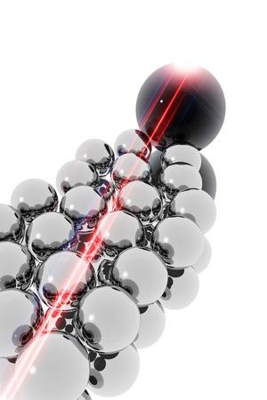 magnetismo: Metal esferas. Efecto Magnetismo Foto de archivo
