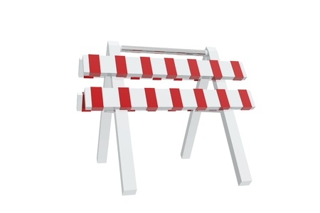 Red and white barrier photo