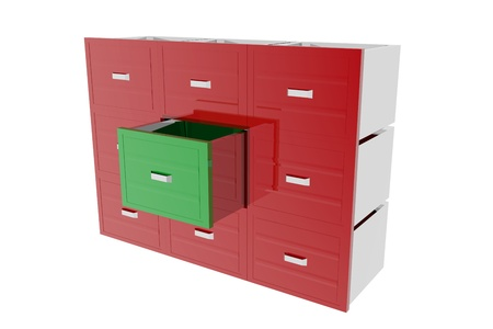 archiving: Cabinet drawer archive