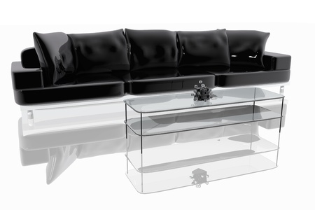 Modern sofa and table photo