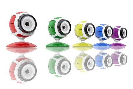 Webcams colores Foto de archivo - 20036977