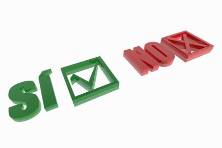 tickbox: Si and no choice symbols