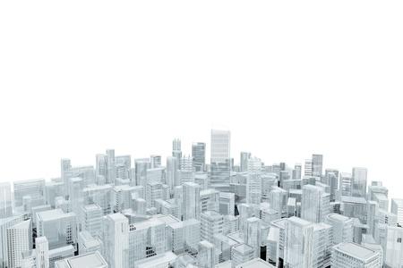 the center of the city: Vista a�rea de los edificios de la ciudad