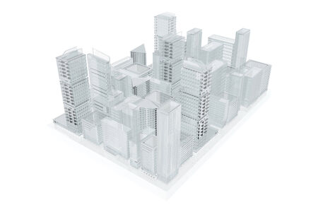urban planning: Future city.  Urban planning Stock Photo