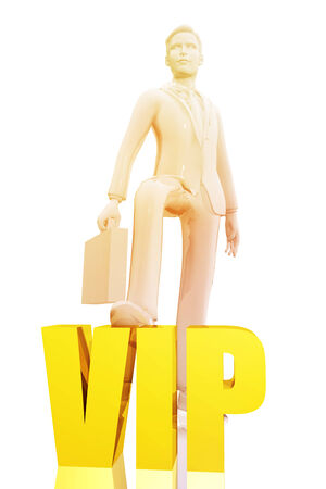 Businessman and vip symbol Stock Photo