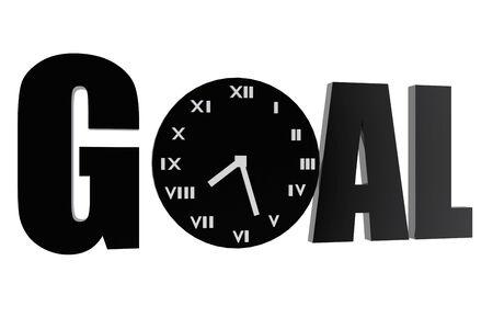 Goal and clock symbols