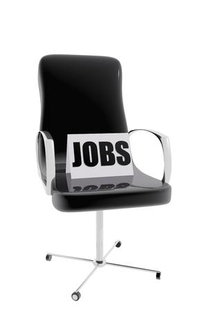 Office chair.  Vacancy job concept