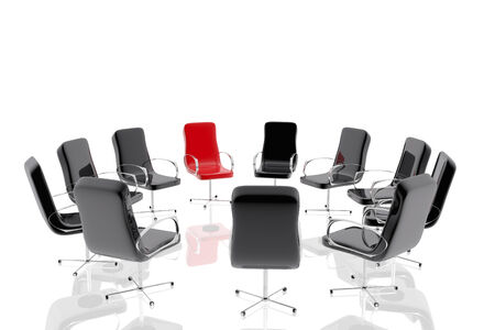 company board: Group of office chairs
