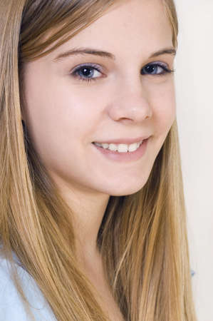 female likeness: Portrait of the girl of fifteen years Stock Photo