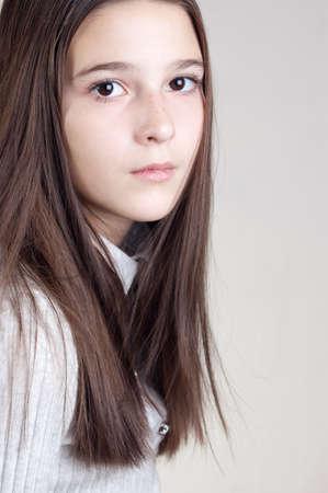 teener: Portrait of the girl of twelve years
