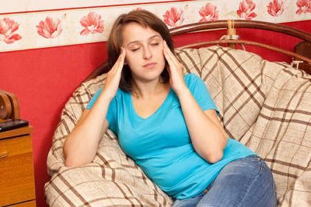 cephalgia: Pain Stock Photo