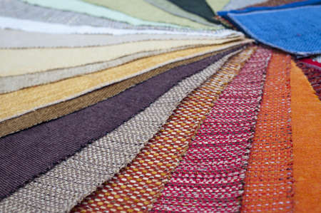 The palette of the furniture upholstery