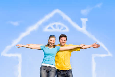 spouses enjoy life outdoors, spread their arms