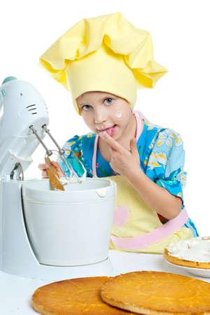 The children help prepare the cooks photo