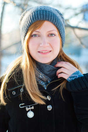 Portrait of a girl in winter Stock Photo - 11792207