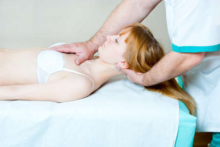 The girl on reception at the chiropractor Stock Photo - 11782061
