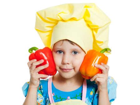 The child help prepare the cook photo