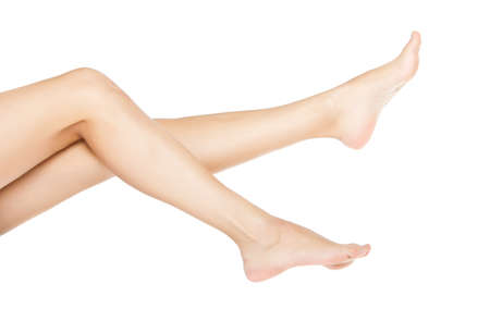 woman smooth feet,  white background Stock Photo - 12671267