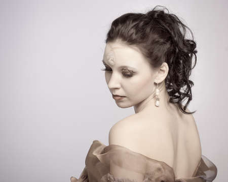 A girl with an unusual makeup photo