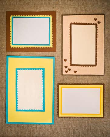 wedding photo frame: Le quattro strutture di carta colorata