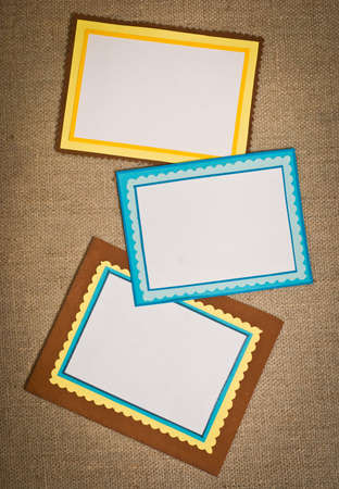 Three frames of colored paper Stock Photo - 13056894
