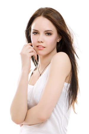 Portrait of a beautiful brunette girl Stock Photo