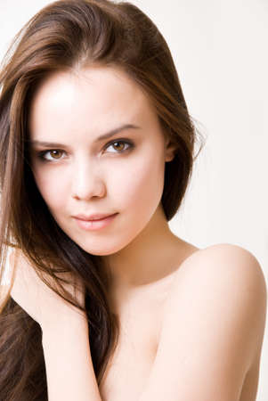 Portrait of a beautiful brunette girl photo