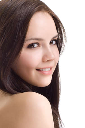 Portrait of a beautiful brunette girl photo