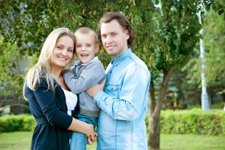 Happy couple with their son Stock Photo - 15036817