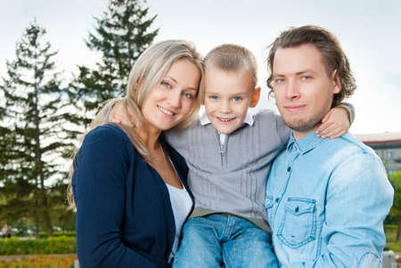 Happy couple with their son Stock Photo - 15036826