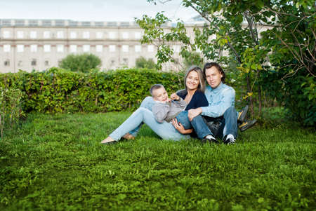Happy couple with their son Stock Photo - 15278075