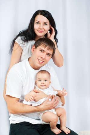 happy family with a baby  at home Stock Photo - 15734258