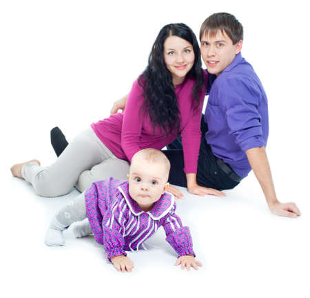 Young family with a baby Stock Photo - 15921699