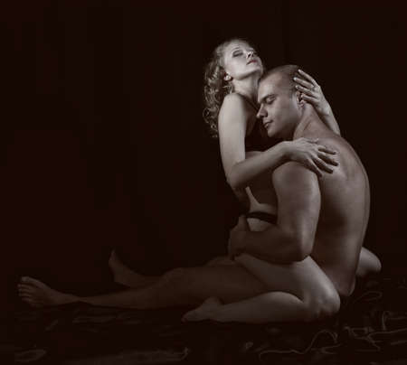 erotic couple: Shot of a passionate loving couple.