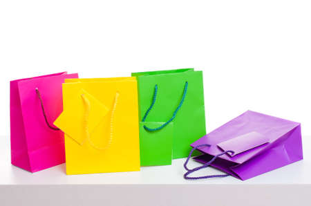 Paper bags on white background Stock Photo - 18122395