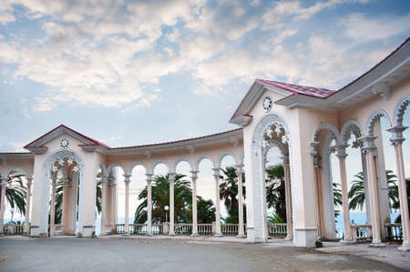 abkhazia: Colonnade on the beach, Abkhazia