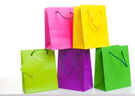 paper bags , white background Stock Photo - 19083859