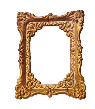 Old photo frame isolated on white background Stock Photo - 20190441