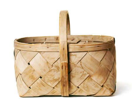 basket on a white background