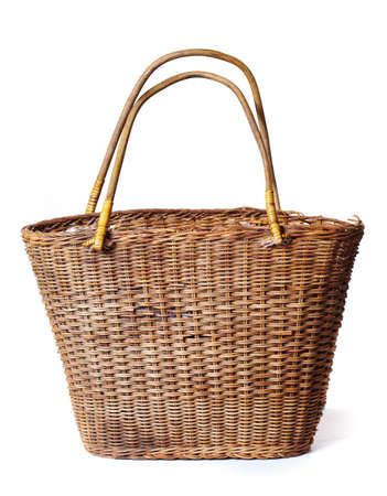 basket on a white background photo