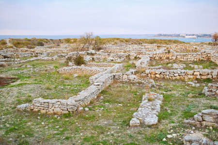 demolished: The ruins of the ancient city of Chersonesos