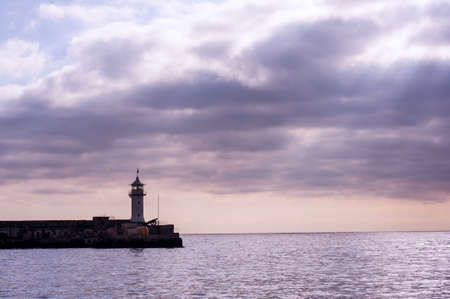 Lighthouse. The city of Yalta. Ukraine. Crimea. photo