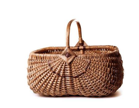 empty basket: basket on a white background  Stock Photo