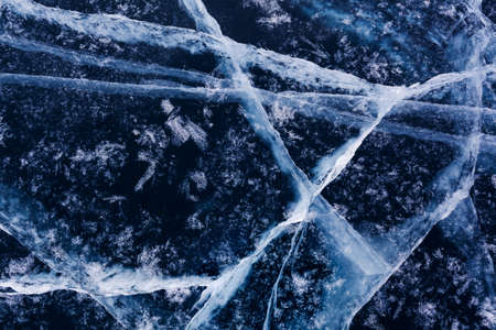 Ice pattern of lake Baikal photo