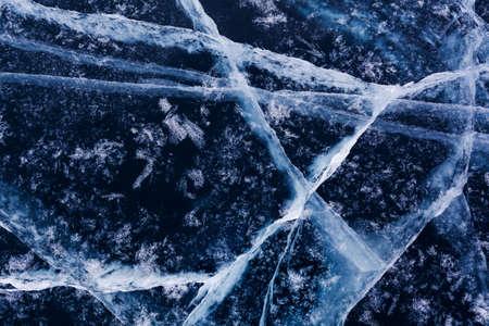 Ice pattern of lake Baikal photo