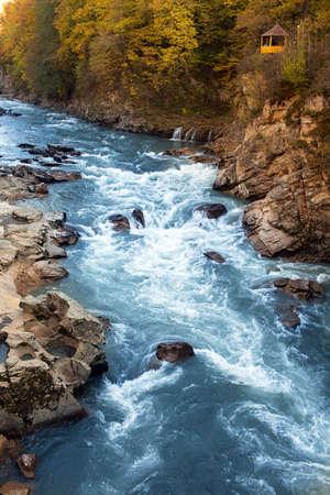 Rufabgo waterfalls, Northern Caucasus, Russia photo