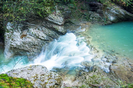 guam: Waterfall in Gorge Guam, the Northern Caucasus. Russia