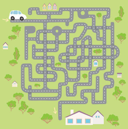 game road, find a way for car