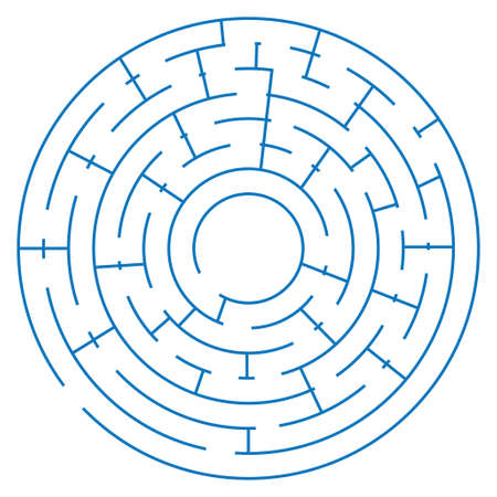 maze game on a white background, vector illustration