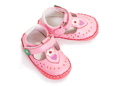 baby shoes on a white background photo